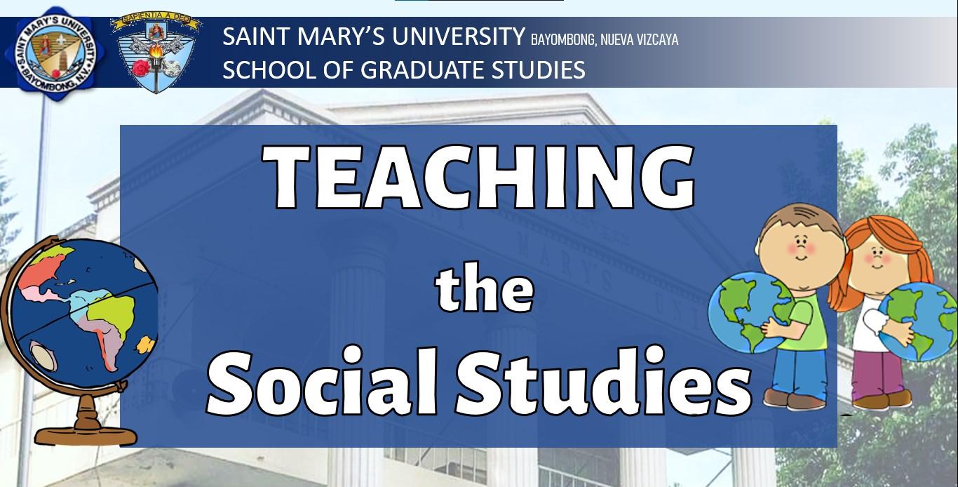 Teaching the Social Studies (SS 200 [1122] MAT - Soc Stud 3:00PM-6:00PM S