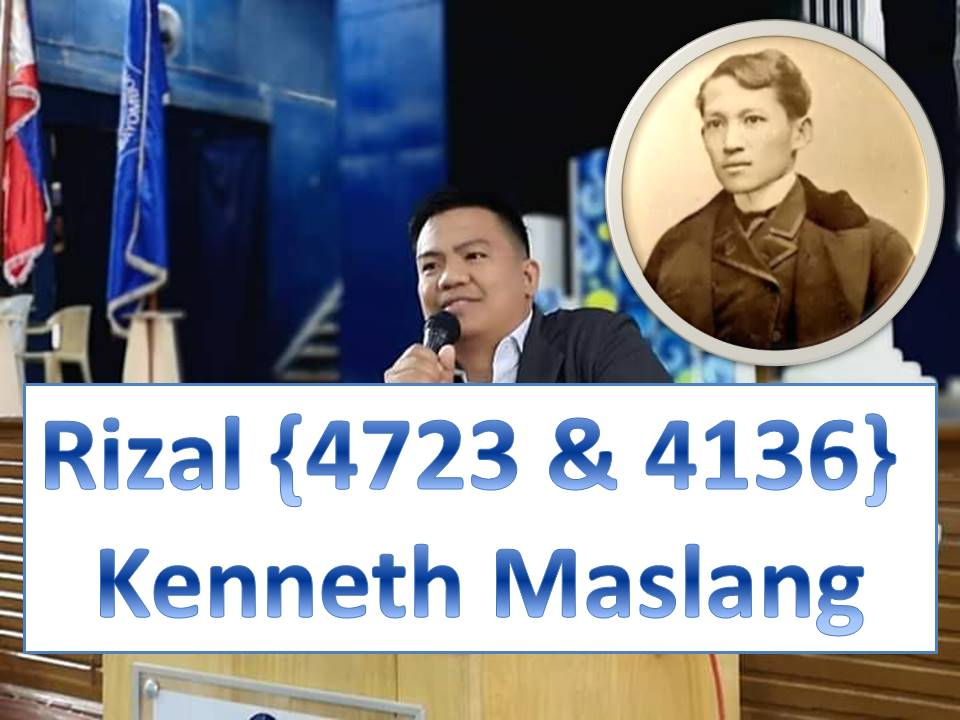 Rizal (4723 BSIT 2 & 4136 BSCpE 3) Kenneth  Maslang