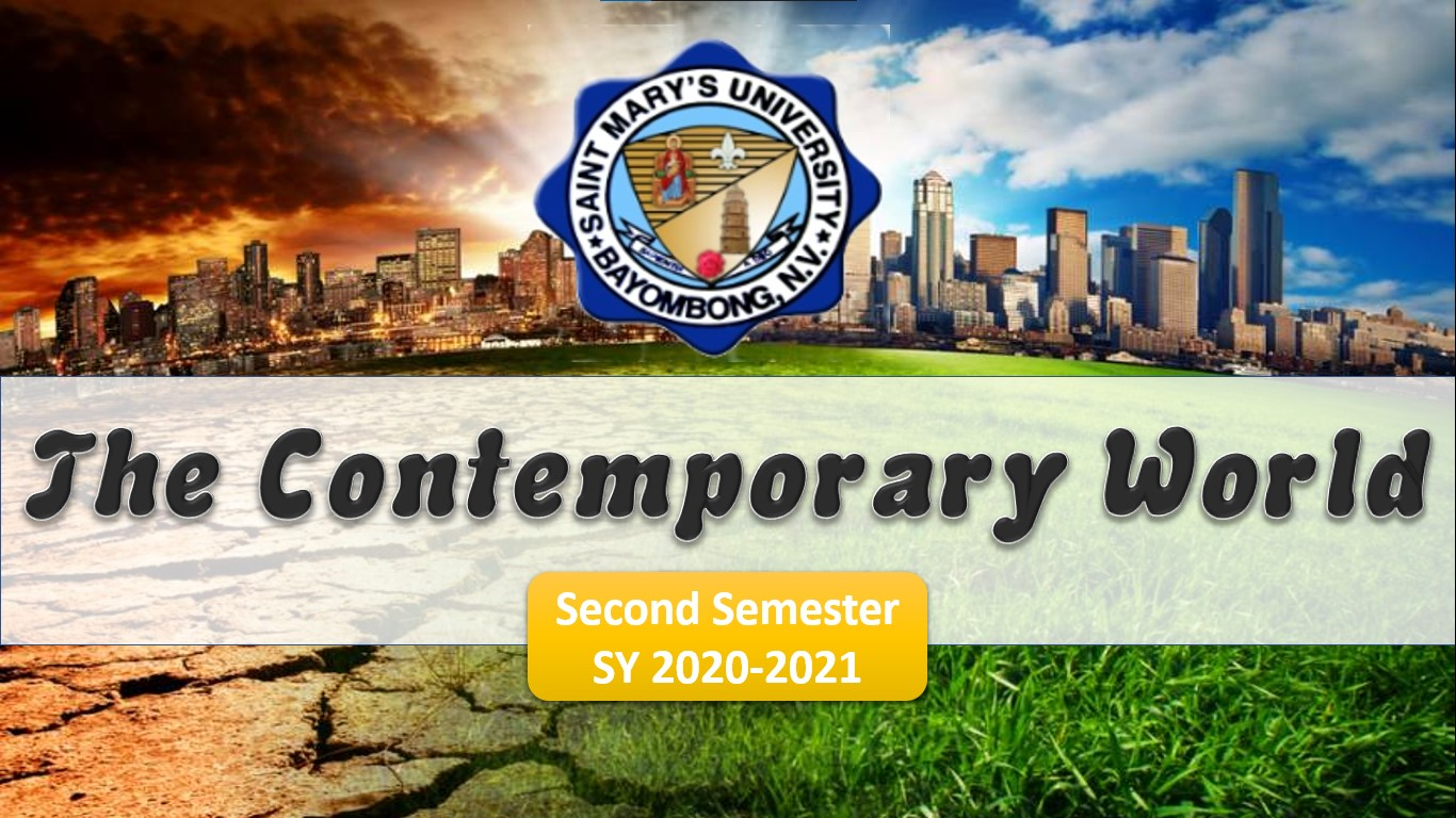 The Contemporary World (2nd Sem) 6:00-7:30 WTh