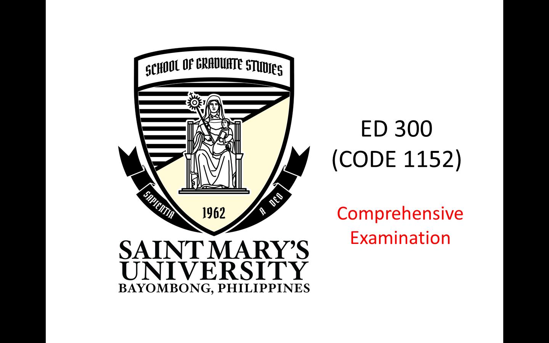 Comprehensive Examinations