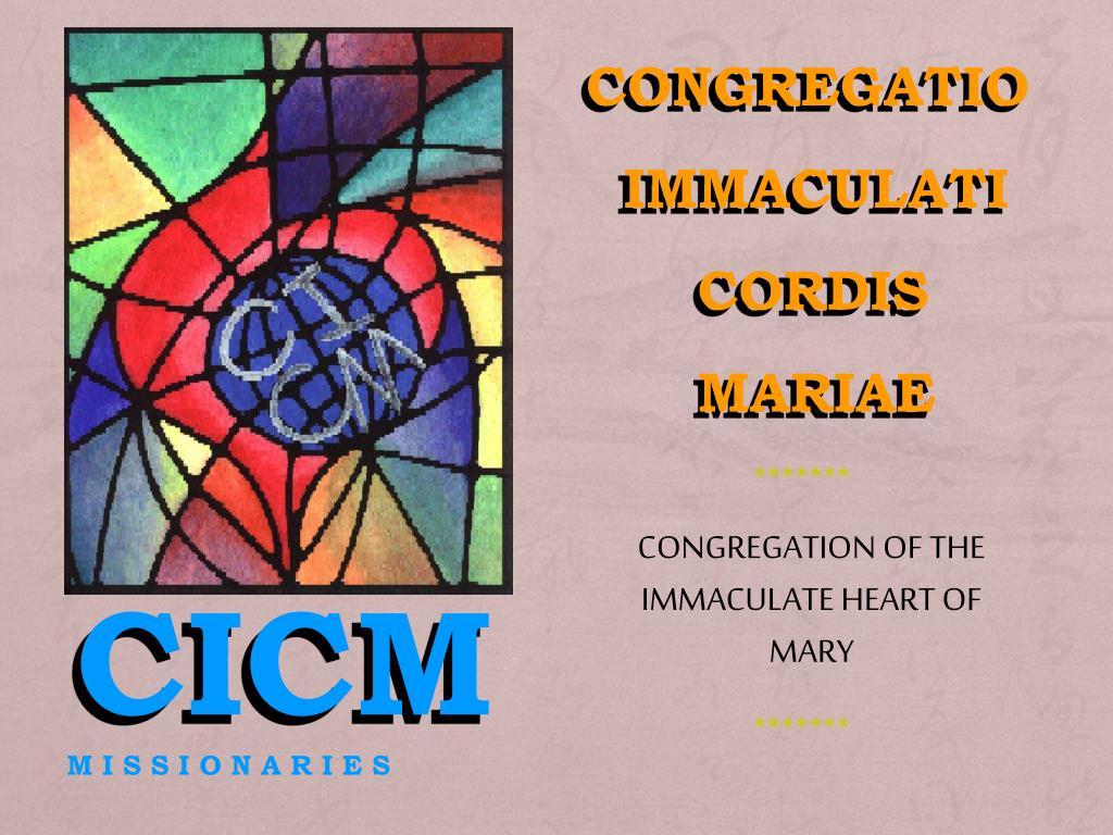 Code: 6415 Course No: CFE 104 Descriptive title: CICM Mission Identity