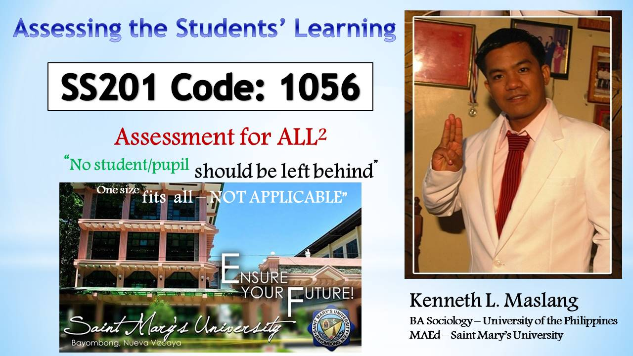 Assessing the Students' Learning