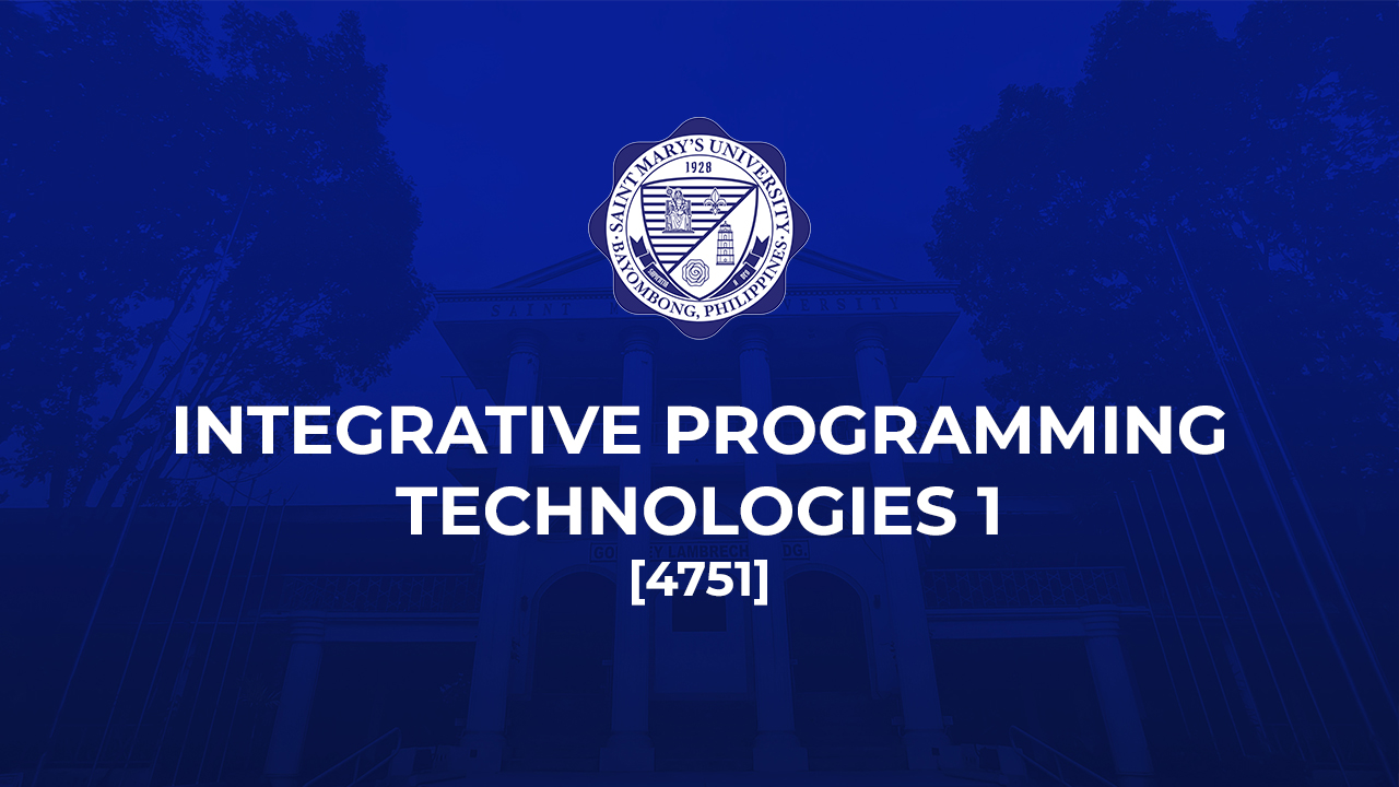 Integrative Programming Technologies 1